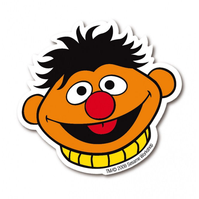 ERNIE FACE DIE CUT SHAPED FRIDGE MAGNET RETRO METAL GIFT