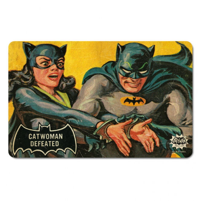 Catwoman Defeated By Batman Breakfast Cutting Board