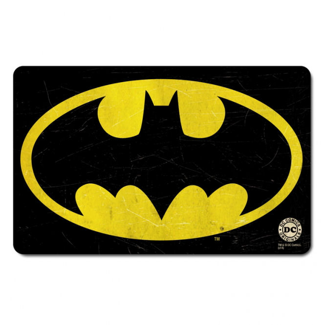 Retro Batman Logo Breakfast Cutting Board