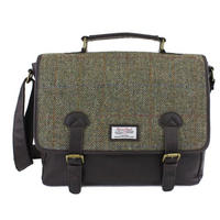 Harris Tweed Green & Brown Satchel/Briefcase