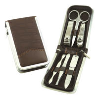 6 Piece Nail Manicure/Grooming Kit (Brown)