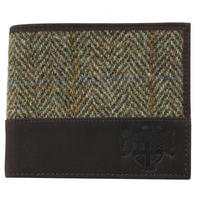 Harris Tweed Green & Brown Wallet