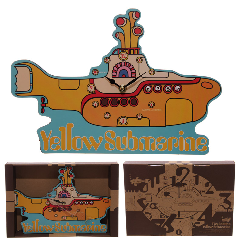 The Beatles Yellow Submarine Wall Clock