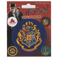 Harry Potter Hogwarts Set of 5 Vinyl Stickers