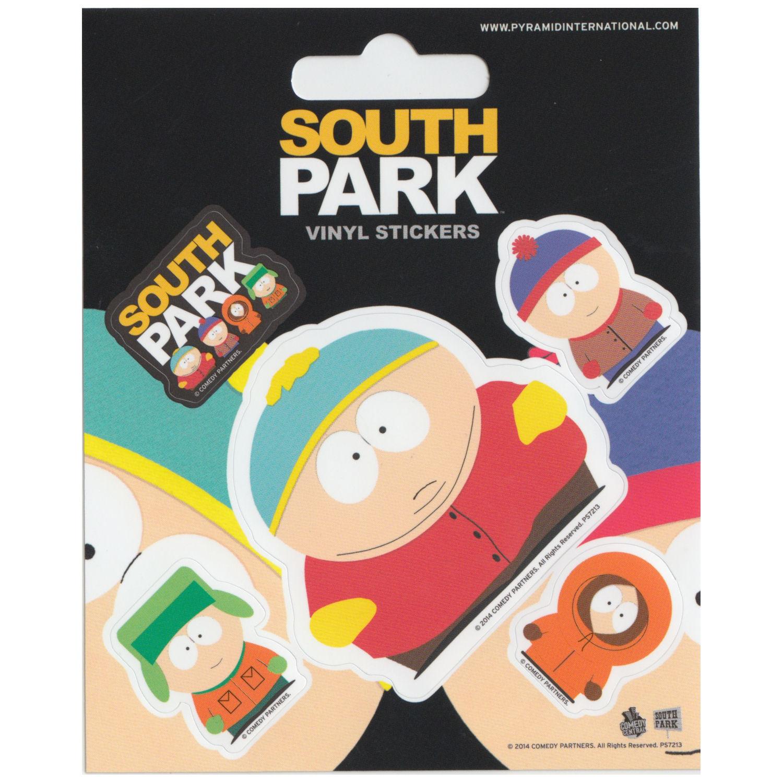 south park 5 st ck selbstklebendes vinyl aufkleber. Black Bedroom Furniture Sets. Home Design Ideas