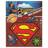 Superman Set of 5 Vinyl Stickers
