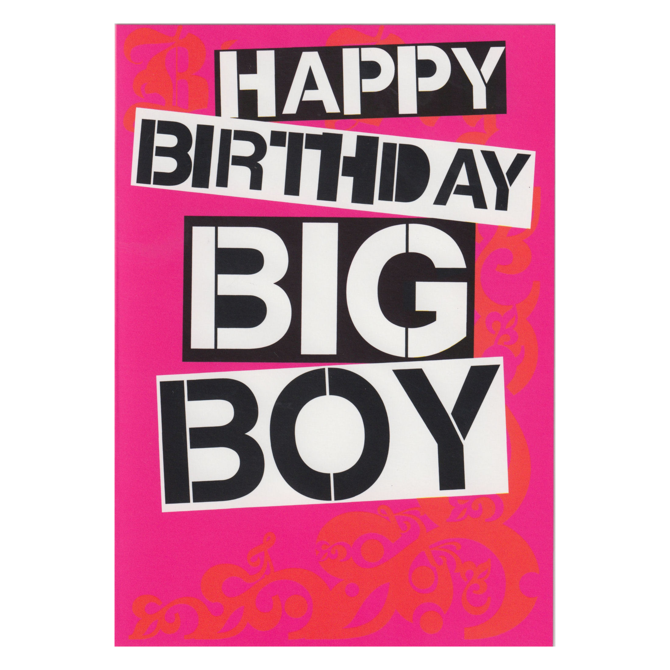happy birthday big boy greeting card retro adult humour blank gift, Birthday card