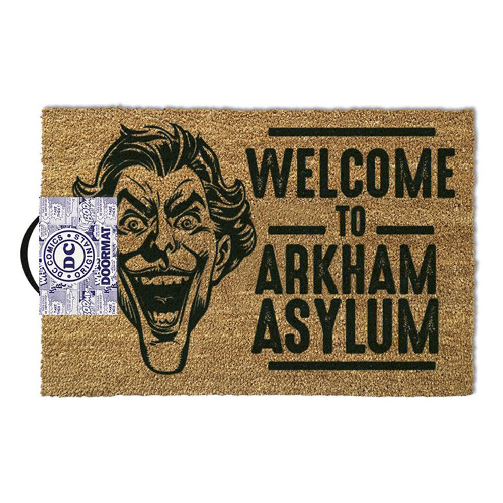 "The Joker ""Welcome To Arkham Asylum"" Door Mat"