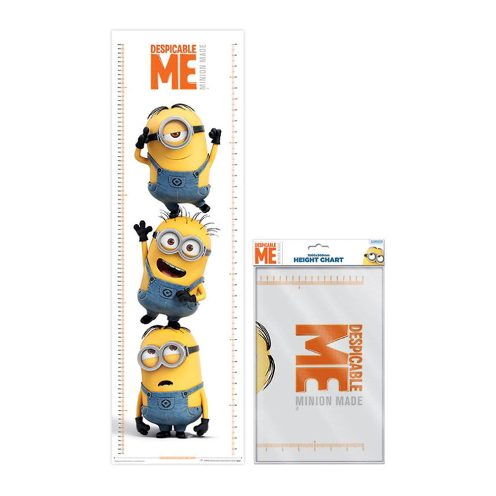 Despicable Me Stacked Minions Height Chart