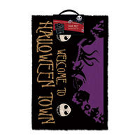"Nightmare Before Christmas ""Welcome To Halloween Town"" Door Mat"