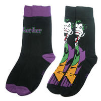 The Joker Face & Logo 2 Pack Of Mens Socks