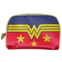 Wonder Woman Glitter Logo Make-Up Bag