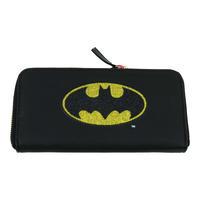 Large Batman Glitter Logo Zipped Purse