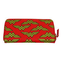 Large Wonder Woman Multi Logo Zipped Purse