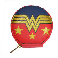 Wonder Woman Glitter Logo Zipped Coin Purse