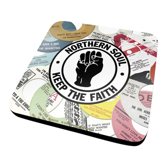 Northern soul record labels coaster vintage retro drinks for Classic house record labels