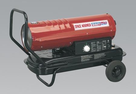 AB7081 Sealey Space Warmer® Paraffin, Kerosene & Diesel Heater 70,000BTU/HR Preview