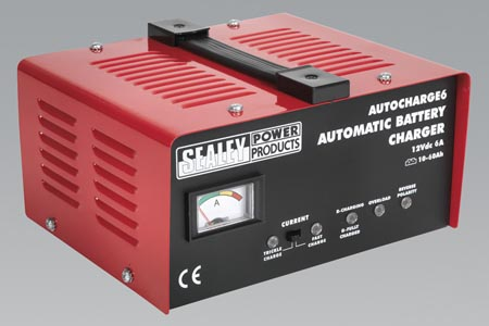 AUTOCHARGE6 Sealey Battery Charger Electronic 6 AMP 12V 230V Preview