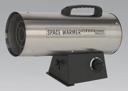 LP50S Sealey Space Warmer® Propane Heater 33,000-55,000BTU/HR - Stainless Steel Preview