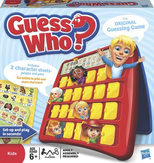 GUESS WHO THE ORIGINAL GUESSING GAME INCLUDES 2 CHARACTER SHEETS! HASBRO 05801 Enlarged Preview