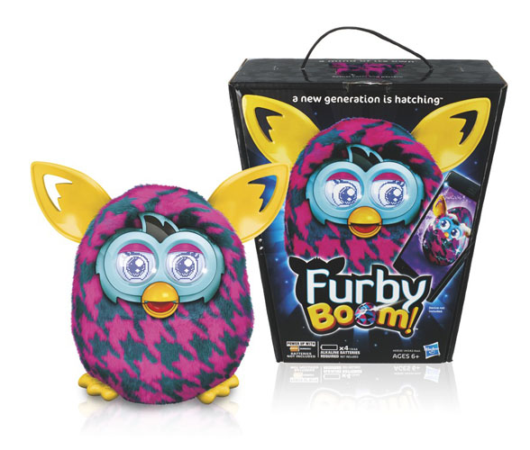 Furby Boom Purple Houndstooth Design Works With App ...