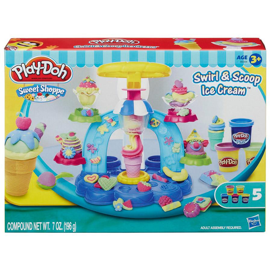 Play doh sweet shoppe swirl and scoop ice cream set 5 - Cocina play doh ...