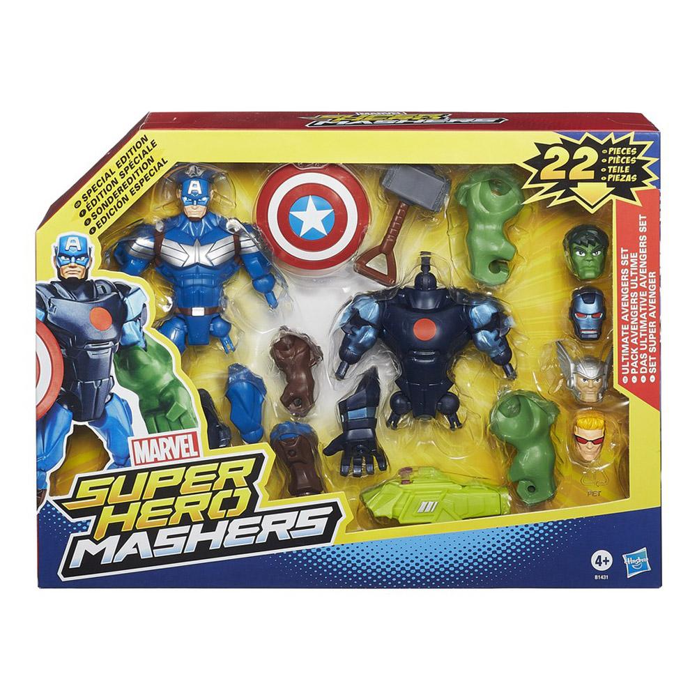marvel avengers super hero mashers ultimate avengers set hasbro b1431 new ebay. Black Bedroom Furniture Sets. Home Design Ideas