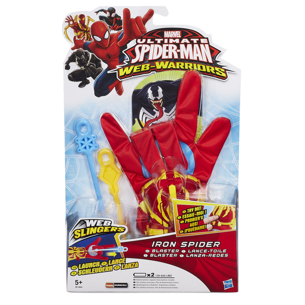 MARVEL ULTIMATE SPIDER-MAN WEB SLINGER WEB-WARRIORS IRON ...Ultimate Spider Man Web Blaster