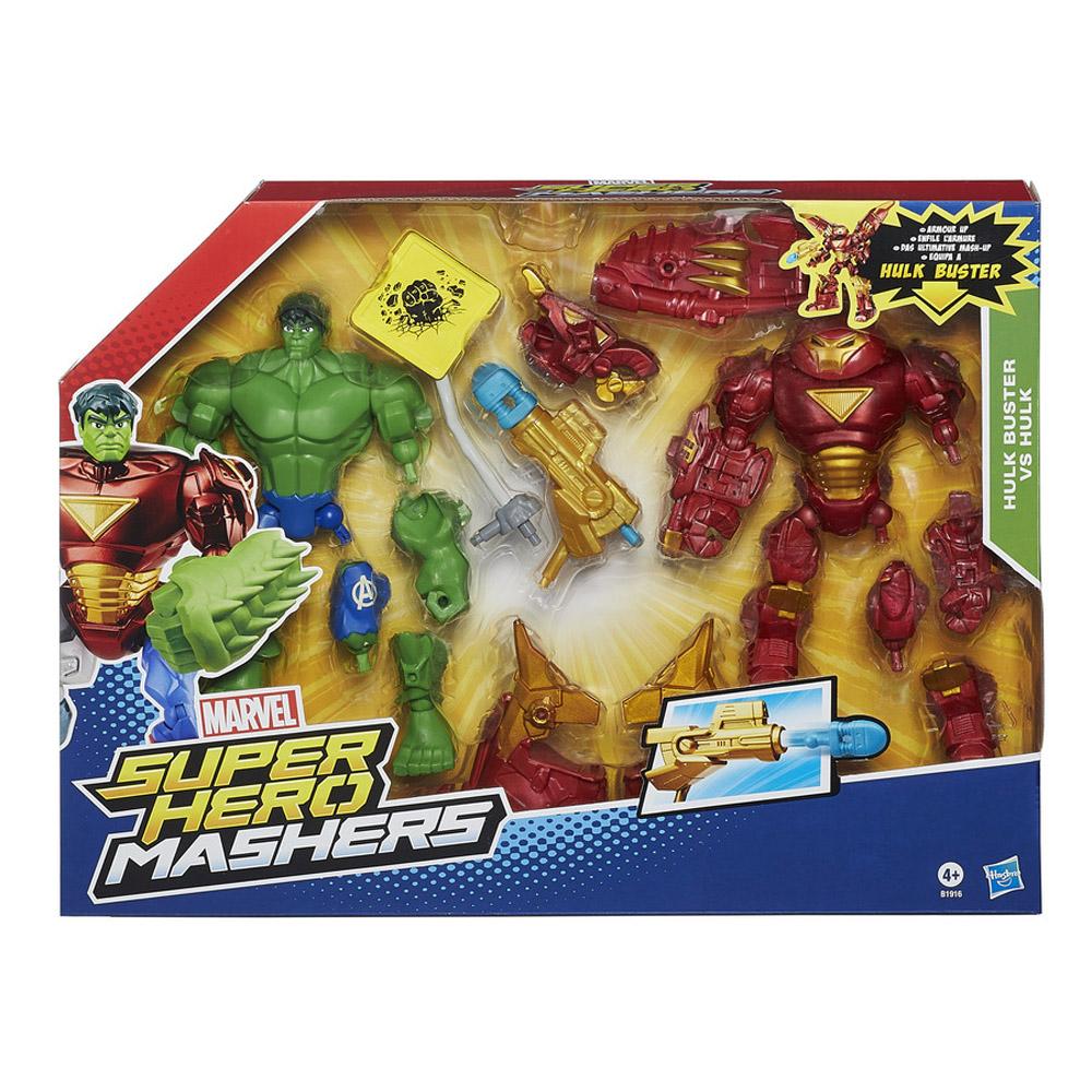 marvel super hero mashers hulk buster vs hulk mash pack hasbro b1916 nuovo di zecca ebay. Black Bedroom Furniture Sets. Home Design Ideas