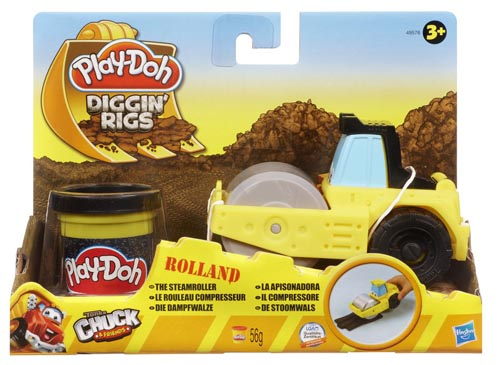 Play-Doh Tool Crew Diggin' Rigs Rolland Steam Roller + 1 Pot Of Play-Doh! 49576 Preview