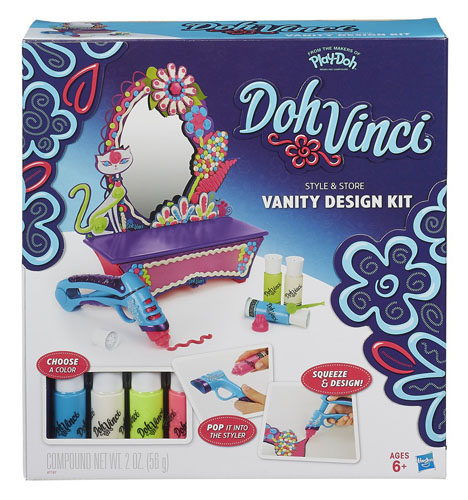 Play-Doh Doh Vinci Style & Store Vanity Complete Design Kit! Design In 3D A7197 Preview