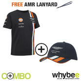 ASTON MARTIN RACING 2013 CHILDREN'S T-SHIRT & CAP ALL AGES + FREE AMR LANYARD!