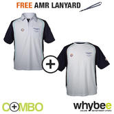 ASTON MARTIN RACING TEAM GULF POLO SHIRT & T-SHIRT SET WITH FREE AMR LANYARD