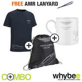 ASTON MARTIN RACING TEAM LIFESTYLE GB T-SHIRT WITH MUG & BAG SET + FREE LANYARD!