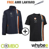 ASTON MARTIN RACING TEAM MENS T-SHIRT & JACKET SET + FREE ASTON MARTIN LANYARD!