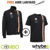 ASTON MARTIN RACING TEAM MENS T-SHIRT & SWEATSHIRT SET + FREE AMR TEAM LANYARD!