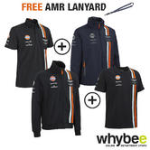 ASTON MARTIN RACING TEAM MALE JACKET & JUMPER POLO SHIRT & T-SHIRT SET + LANYARD