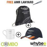 ASTON MARTIN RACING TEAM CAP & BAG SET WITH TEAM MUG + FREE AMR LANYARD!