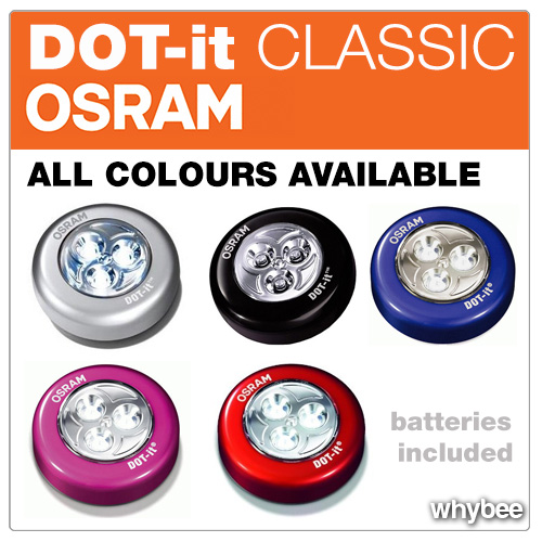 osram dot it classic led stick on light available in 5. Black Bedroom Furniture Sets. Home Design Ideas