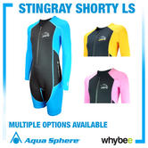 Aqua Sphere Stingray Shorty Long Sleeve Wet Suit Kids Wet Suits Kids Swimwear