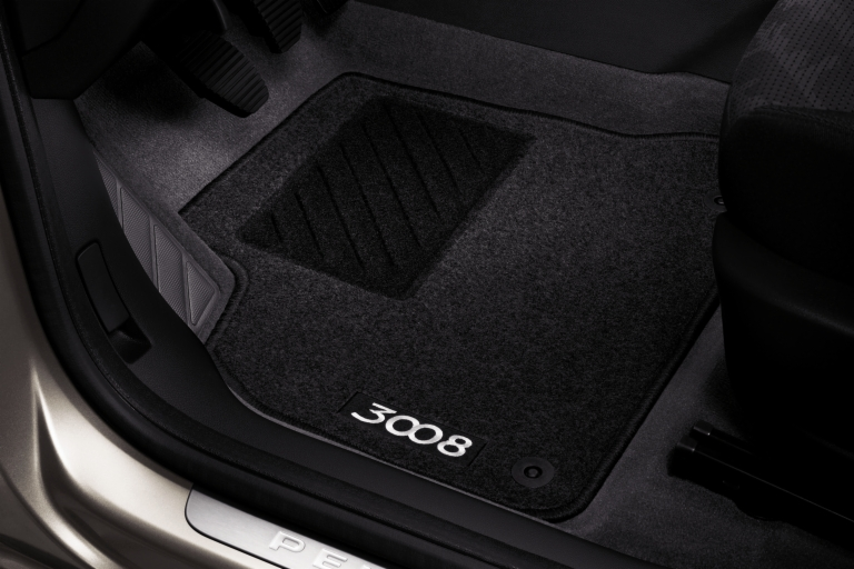 peugeot 3008 front rear carpet mats fits all 3008 models 1 6 thp 2 0 hdi. Black Bedroom Furniture Sets. Home Design Ideas