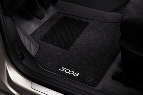 PEUGEOT 3008 FRONT & REAR CARPET MATS [Fits all 3008 models] 1.6 THP 2.0 HDI Thumbnail 1