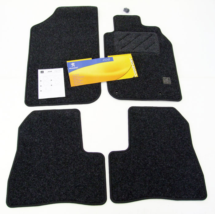 PEUGEOT 206 CARPET MATS [Fits all 206 models] GTI HDI XSI GENUINE PEUGEOT PART!
