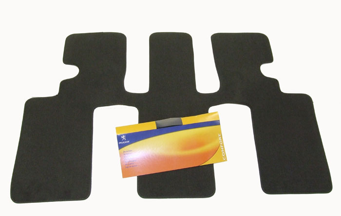 PEUGEOT 807 CARPET MATS 3rd ROW [Not suitable for 6 seat executive SE] MPV