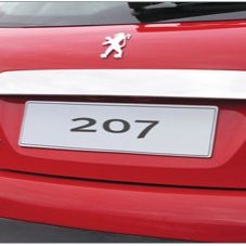 PEUGEOT 207 CHROME TAILGATE TRIM [Fits all RESTYLED 207 models]  GENUINE PEUGEOT