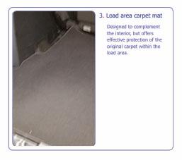 PEUGEOT 4007 LOAD AREA CARPET MAT no SPEAKER [Fits all 4007 models] 2.2 HDI Thumbnail 1