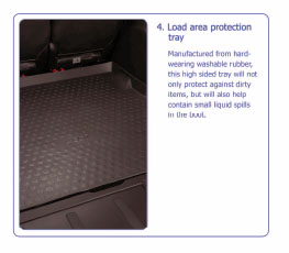 PEUGEOT 4007 LOAD AREA PROTECTION TRAY [Fits all 4007 models] 2.2 HDI NEW!