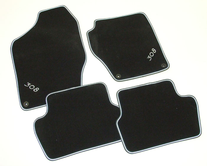 PEUGEOT 308 LUXURY VELOUR CARPET MATS [Hatchback and SW]  GENUINE PEUGEOT