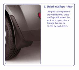 PEUGEOT 4007 MUD FLAPS [Fits all 4007 models] 2.2 HDI GENUINE PEUGEOT ACCESSORY! Thumbnail 1
