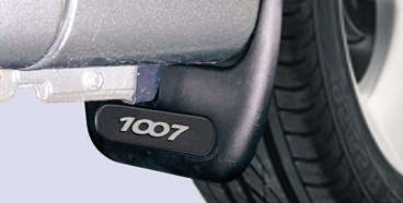 PEUGEOT 1007 MUD FLAPS with 1007 BADGES [Fits all 1007 models] 1.4 1.6 & HDI Thumbnail 1